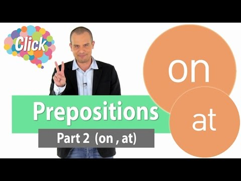Prepositions Part2 on, at